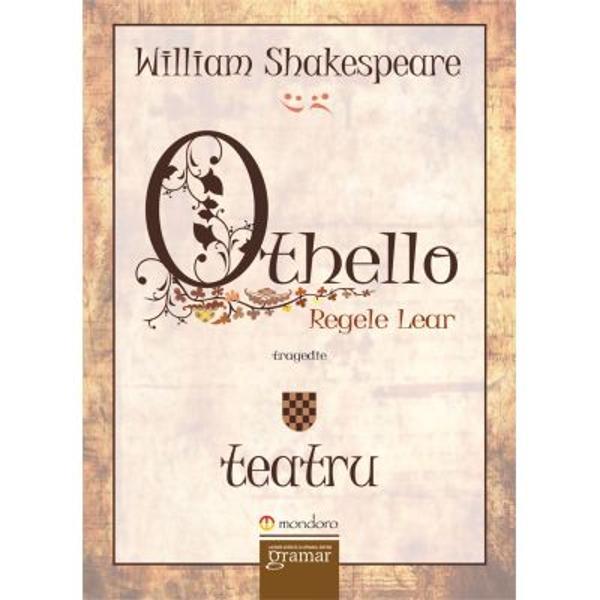 Tragedia Othello se crede c&259; a fost reprezentat&259; pentru prima oar&259; în 1604 cu alte cuvinte Shakespeare a scris aceast&259; pies&259; în plin&259; maturitate Othello a fost tip&259;rit&259; pentru prima oar&259; în 1622 Shakespeare a împrumutat subiectul piesei din Heccatommithi o culegere de povestiri pe care Giraldi Cinthio un italian a publicat-o în 1565Traducerea în române&351;te pe care o d&259;m publicului