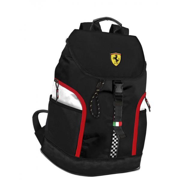 Rucsac laptop Ferrari negruFerrari una dintre cele mai exclusiviste marci auto este cunoscuta pentru viteza puterea si frumusetea eiCand pasiunea se trezeste iti doresti sa fii in contact cu simbolurile deja stiute putere cutezanta performanta Rucsacul pentru laptop Ferrari bifeaza cu succes simbolurile aducand un plus de utilitate acestoraPutem spune despre Rucsacul cu clapeta Ferrari ca respecta segmentul produselor premium Este fabricat din