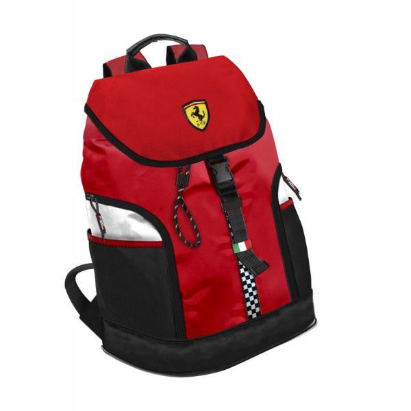 Rucsac laptop Ferrari rosuFerrari una dintre cele mai exclusiviste marci auto este cunoscuta pentru viteza puterea si frumusetea eiCand pasiunea se trezeste iti doresti sa fii in contact cu simbolurile deja stiute putere cutezanta performanta Rucsacul pentru laptop Ferrari bifeaza cu succes simbolurile aducand un plus de utilitate acestoraPutem spune despre Rucsacul cu clapeta Ferrari ca respecta segmentul produselor premium Este fabricat din