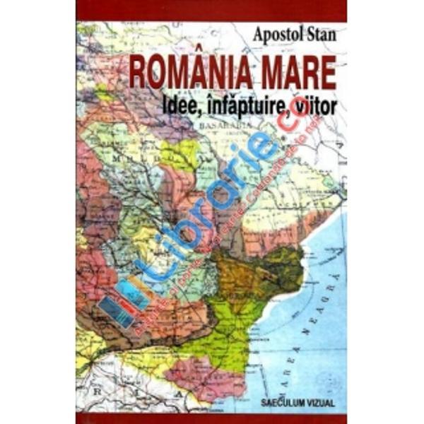 Cartea expune pe spatii intinse modul si imprejurarile incare s-a constituit si intregit natiunea romana intr-o entitate sta-tala in intregul ei teritoriu etnic precum si circumstantele inter-ne si externe in care s-a conceput implinit si a evoluat RomaniaMare Este un proces desfasurat cronologic intre 1848 si