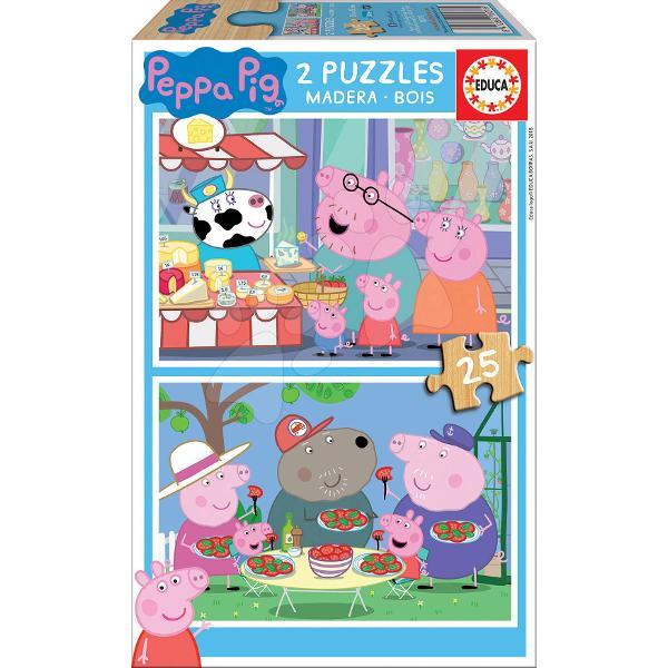 Puzzle-ul din lemn pentru copiicu motivul purcelu&537;ei veselePeppa Pigeste un puzzle frumos potrivit pentru to&539;i copiide la 4 aniFiec&259;rui copil asambleaz&259; cu drag puzzle-uri cu motive colorate &537;i veseleAmbalajul acestui puzzle pentru copii include un set de dou&259; imagini din seria animat&259;Peppa Pig care le plac multor copiiFiecare imagine este
