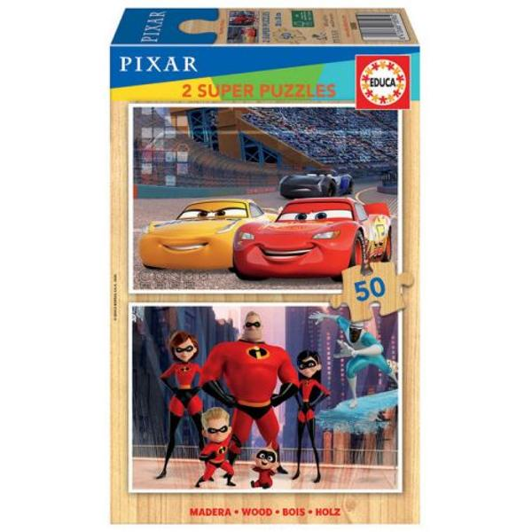 Puzzle 2 x 50 piese Cars  The Incredible 15898