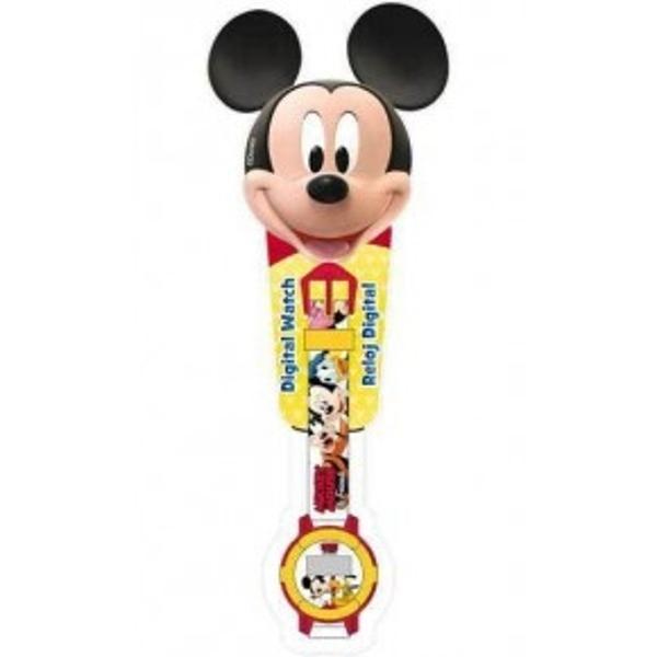 Ceas digital MickeyCeas de mana digital pentru copii Mickey Mouse Disney Bateria este inclusaVarsta 3AtentionareProdusul este contraindicat copiilor sub varsta de 3 ani deoarece poate contine piese mici care pot fi inghitite sau inhalate existand pericolul de sufocare  Va rugam NU lasati ambalajele produselor la indemana copiilor Indepartati orice ambalaj al produsului inainte de a da produsul