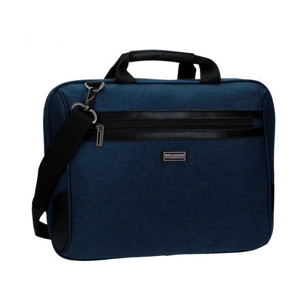 Geanta pentru laptop 41 cm Movom Padding albastru - 2 compartimente bareta ajustabila lungimea baretei aproximativ 90 cm dimensiune 41x32x8 cm material poliester  piele ecologica culoare albastru compartiment special pentru laptop 1 buzunar frontal maner superior