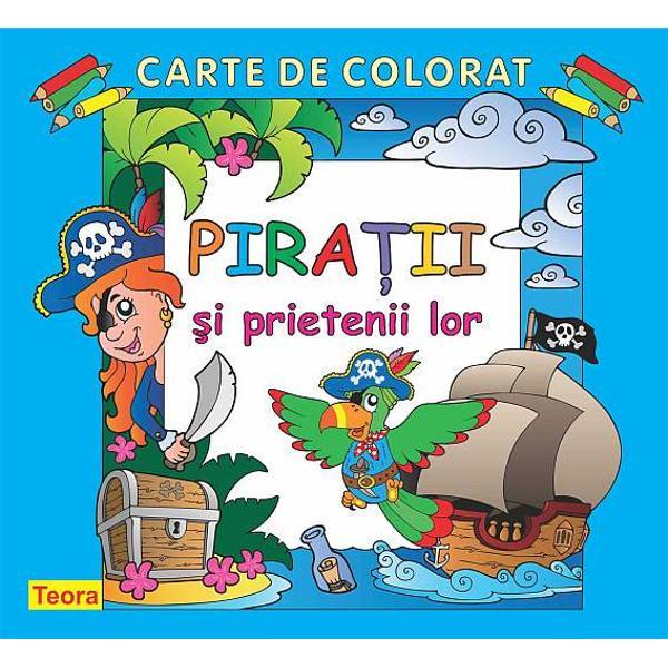 Piratii - carte de colorat