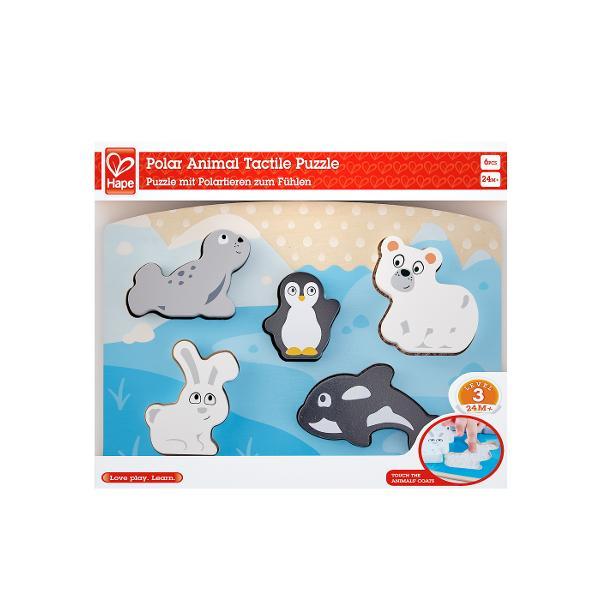 Este frig in Arctica si animalele au nevoie de haine speciale pentru a se incalzi Scoateti piesele acestui puzzle pentru a simti haina focii pinguinului ursului polar iepurelui arctic si orca Scoateti piesele puzzle-ului din gaurile lor Atingeti tesaturile texturate dedesubt pentru a intelege cum se simte haina fiecarui animal Puneti animalele inapoi in locurile potrivite pentru a finaliza puzzle-ul Asezati piesele groase ale puzzle-ului la capatul lor pentru a crea scene diferite si