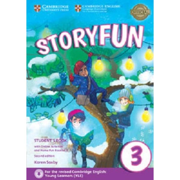 Enjoyable and engaging practice for the revised 2018 Cambridge English Young Learners YLEStoryfun Level 3 Students Book provides full-colour preparation material for Cambridge English Movers It contains eight fully-illustrated stories with accompanying activities for students to enjoy These include songs and exam-style questions that practise the grammar vocabulary and skills needed at each level Extra speaking practice and projects provide opportunities for extension