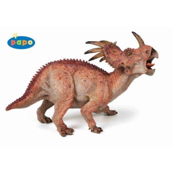Figurina Papo-Dinozaur StyracosaurusJucarie educationala realizata manual excelent pictata si poate fi colectionata de catre copii sau adaugata la seturile de joaca cum ar fi animale preistoriceetcUn excelent stimulent pentru a extinde imaginatia copiilor dezvoltand multe oportunitati de joacaNu contine substante toxiceVarsta 3 ani