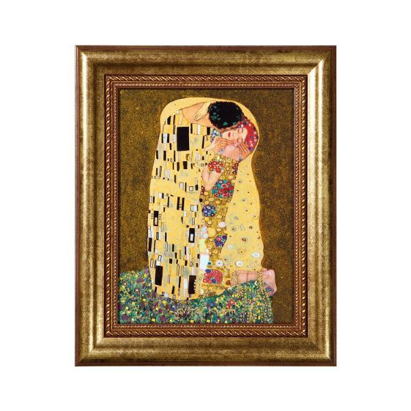 Portelan    Dimensiuni 34 x 28 cm    Tablou de perete    Decorat cu aur veritabil    Editie limitata- doar 5000 de bucati fabricate in lume