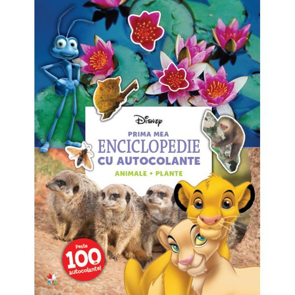 Disney Prima mea enciclopedie cu autocolante Animale plante