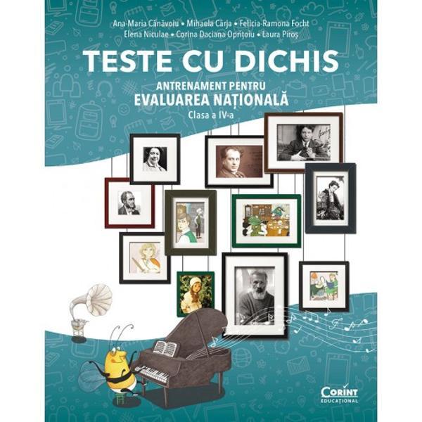 CuTESTE CU DICHIS Antrenament pentru EVALUAREA NA&538;IONAL&258; – clasa a IV-aelevii vor putea începe c&259;l&259;toria în lumea fascinant&259; a pove&537;tilor &537;i a matematiciiPe parcursul primei p&259;r&539;i a c&259;r&539;ii în cadrul testelor pentru Limba român&259; elevii se vor reîntâlni cu personaje cunoscute de ei din diverse opere literare devotatul &537;i