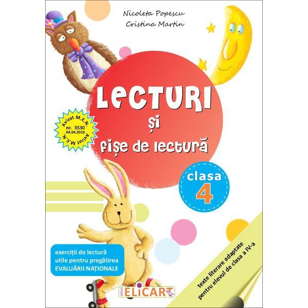 Lecturile selectate din literatura român&259; &351;i universal&259; sunt interesante atractive &351;i accesibile Con&355;inutul lor va contribui la dezvoltarea vocabularului &351;i a imagina&355;iei stimularea curiozit&259;&355;ii În acest fel cartea se constituie într-un suport de lucru eficient pentru orele de lectur&259;Din con&355;inutul auxiliarului• pove&351;ti• poezii• exerci&539;iibr