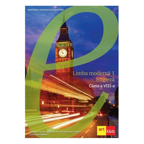 Manualul &537;colar a fost aprobat de Ministerul Educa&539;iei Na&539;ionale prin ordinul de ministru nr 493910082020This textbook uses cutting-edge language and pedagogy research it follows the Romanian Curriculum step by step andcreates an inclusive learning environment through learning strategies games and dynamic activities to ensure all students achieve success;inspires passion and sparks the imagination through culture film documentaries