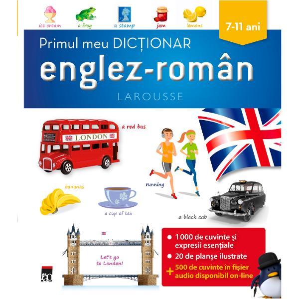 Destinat elevilor din clasele primare acest dic&355;ionar con&355;ine 1 000 decuvinte expresii &537;i exemple din limbajul cotidian al limbii englezeprecum &537;i explica&355;ii gramaticale Vocabularul respect&259; recomand&259;rileCadrului european comun de referin&355;&259; pentru dobândirea de c&259;tre elevi anivelului introductiv - A1 de competen&355;&259;
