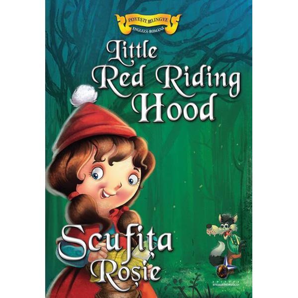 Scufita Rosie Little Red Riding HoodColectia Povesti bilingve Englez-Roman ii ajuta pe copii sa invete limba engleza cu ajutorul povestilorAjuta la dezvoltarea memoriei gandirii si motricitatii secundareDescopera povestea Scufitei Rosii cu ajutorul acestei cartiTextul este citet si usor de urmaritCartea este deosebit de frumos ilustrata