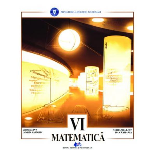 Manual matematica clasa a VI a editia 2021 Zaharia