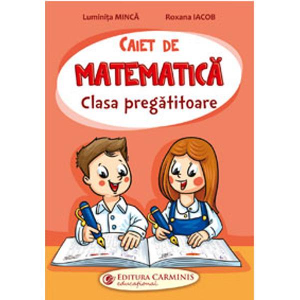 Caietul de matematic&259; realizat într-un mod original &537;i atractiv vine în completarea auxiliarului Matematic&259; &537;i Explorarea mediului cu Tina &537;i RaduÎn paginile sale micii &537;colari vor fi pu&537;i în situa&539;ia de a exersa semne grafice forme geometrice cifre numere &537;i de a dezlega misterul opera&539;iilor matematice Pe parcurs vor întâlni o serie de jocuri antrenante pentru aprofundarea