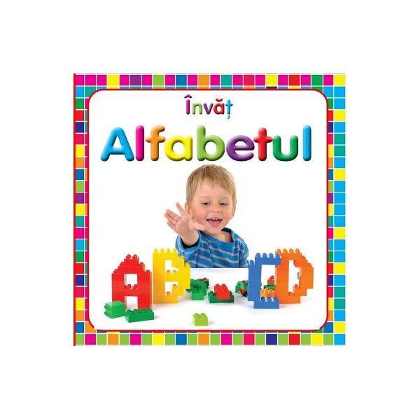 O carte cu file cartonate cu ajutorul careia cei mici pot invata cu usurinta alfabetul fiindu-le usor sa asocieze litera cu imaginea respectiva