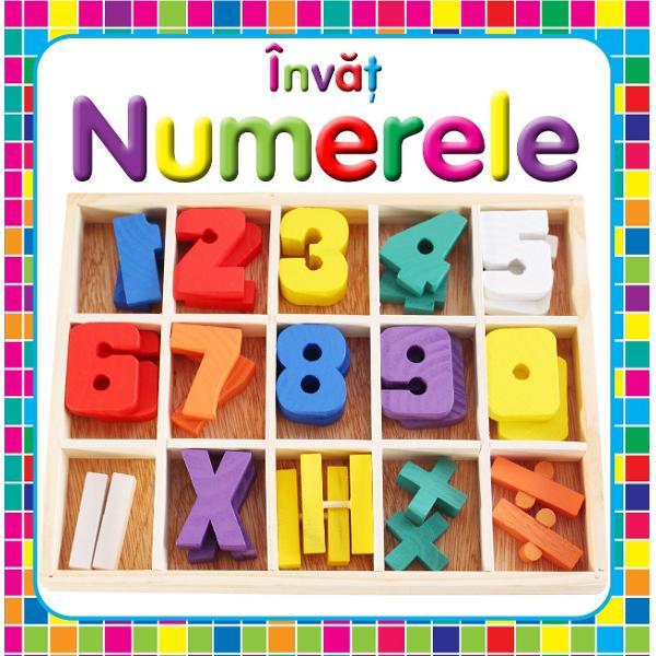 O carte cu filele cartonate cu ajutorul careia cei mici pot invata cu usurinta numerele
