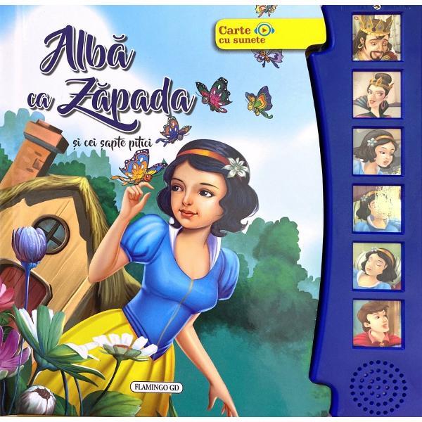 Aceasta carte spune povestea frumoasei Alba-ca-Zapada Este repovestita pentru micul cititor al zilelor noastre si poate fi ascultata sau citita