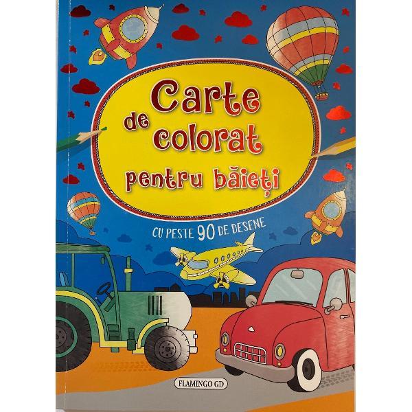 Carte de colorat cu peste 90 de desene minunate