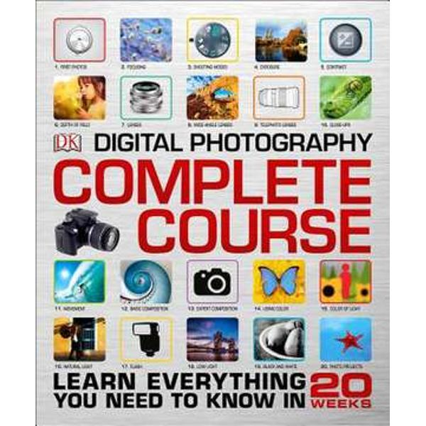 Digital Photography Complete Course will help you build your photography skills step-by-step with an independent photography course that guides you through every aspect of digital photographyDigital Photography Complete Course uses a combination of tutorials step-by-step demonstrations practical assignments and Q&As to help you understand and use your camera to the max Choose your own pace to work through the modules the program is totally customizable to your schedule