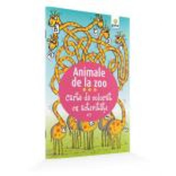 Cartea familiarizeaz&259; copilul cu animalele s&259;lbatice provoc&226;ndu-l s&259; le coloreze sau s&259; rezolve diverse jocuri &238;n care acestea sunt personaje principale
