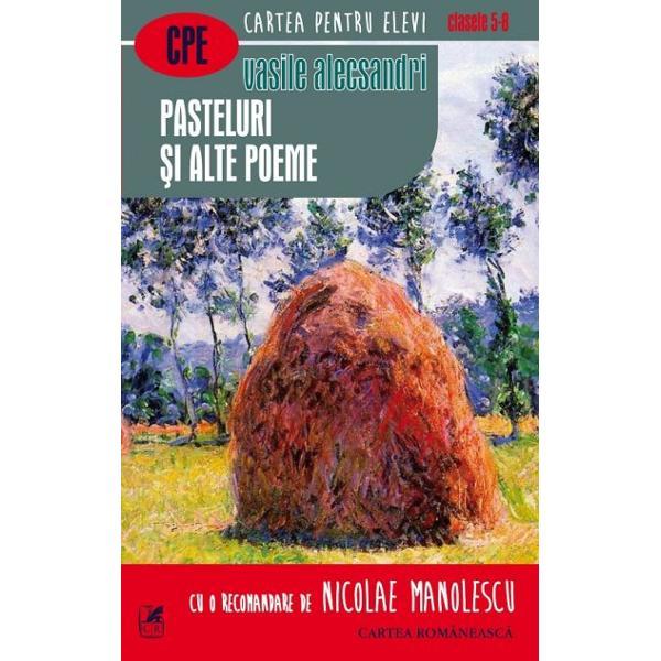"""Vasile Alecsandri este cel mai de seam&259; poet din genera&355;ia romanticilor pa&351;opti&351;ti Posteritatea lui n-a fost pe m&259;sura succesului pe care l-a cunoscut în timpul vie&355;ii Din dou&259; motive Poetul pare a se fi îndep&259;rtat de noi din cauza caracterului """"ocazional"""" al unei bune p&259;r&355;i din poezia lui To&355;i contemporanii lui înainte de Eminescu în&355;elegeau la fel rostul poeziei Poe&355;ii moderni nu se"""
