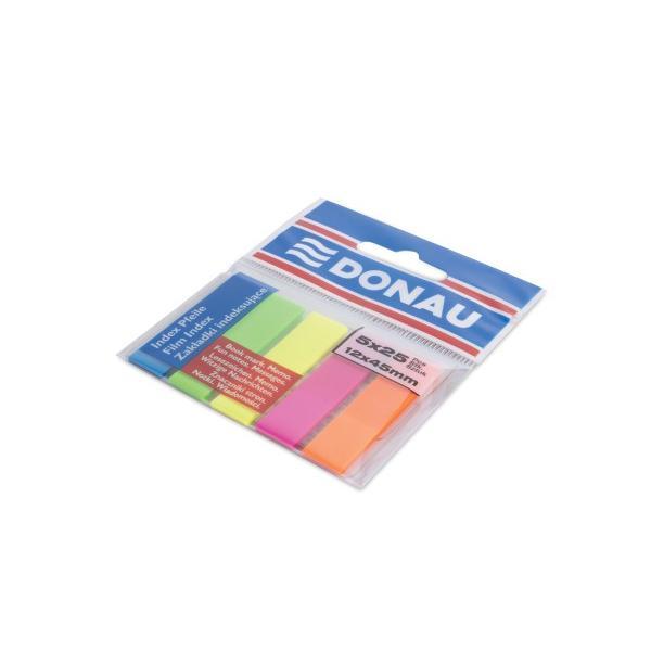 Index de plastic 12x45 mm5 culori x 25 file cu banda autoadeziva in partea superioaraIdeal pentru a marca diverse pagini se poate repozitiona si se poate scrie pe suprafata de plastic