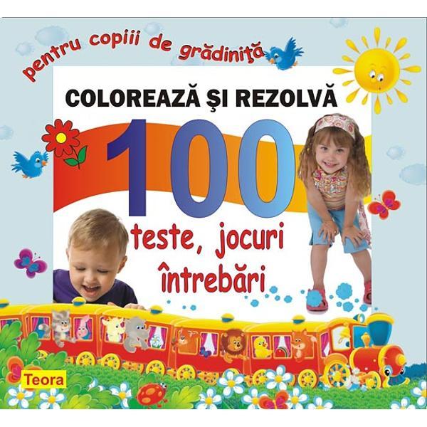 Dintre activitatile zilnice ale copiilor mici jocul este cea mai importanta Copiilor le place sa coloreze si fac acest lucru in joaca Cartea propune o metoda de evaluare care exploateaza pasiunea copiilor pentru joc si culoareTestele se rezolva colorand iar aceasta modalitate de abordare transforma exercitiul educativ intr-o activitate amuzantaSunt parcurse subiecte din toate domeniile stiinte limbaj si comunicare om si societate educatie estetica si creativitateO carte