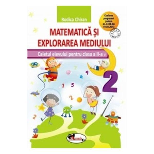 Conform cu programa &537;colar&259; &537;i totodat&259; inovator si creativ Caietul de Matematic&259; &537;i explorarea mediului pentru clasa a II-a integreaz&259; armonios matematica &537;i &537;tiin&539;ele naturii Con&539;inutul este de o excelent&259; valoare educativ&259; limbajul este unul pe în&539;elesul tuturor &537;i deopotriv&259; menit s&259; înlesneasc&259; asimilarea termenilor noi în vocabularul elevilor iar succesiunea logic&259; a