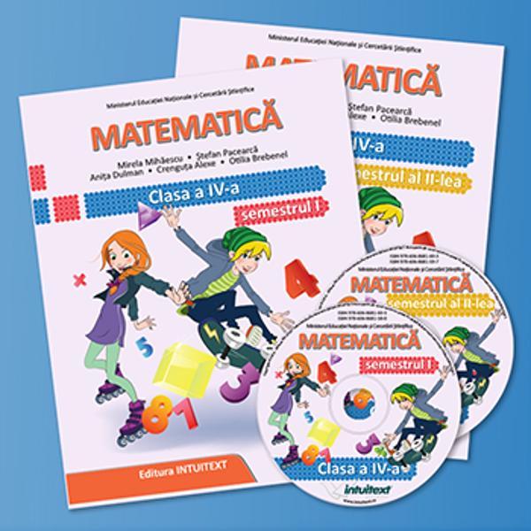 Manualul de Matematic&259; pentru clasa a IV-a este conform cu programa &537;colar&259; Cele dou&259; volume sunt structurate în câte 6 unit&259;&539;i de înv&259;&539;are pe fiecare volum aferent celor dou&259; semestre ale anului &537;colar Manualul promoveaz&259; activ valorile sociale &537;i individuale fiind lipsit de orice form&259; de discriminare  Cele 6 unit&259;&539;i principale de înv&259;&539;are din