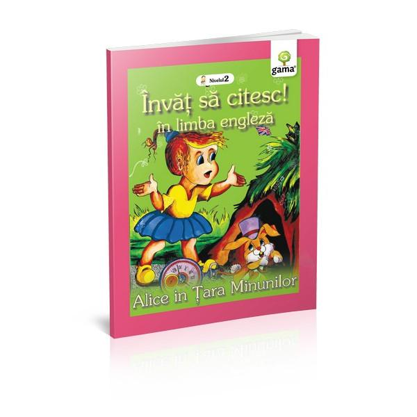 Aventurile extraordinare ale luiAlice în &539;ara Minunilor într-o carte creat&259; special pentru copiii care vor s&259; înve&539;e s&259; citeasc&259; în limba englez&259;Cartea se adreseaz&259; cititorilor de nivel mediu care nu st&259;pânesc înc&259; un vocabular bogat Ilustra&539;iile pasate abil deasupra cuvintelor îi ajut&259; se decodifice rapid cuvintele &537;i s&259; le descopere