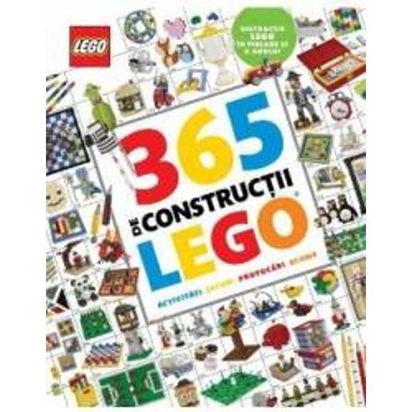 • Porneste intr-o vanatoare de comori LEGO • Fa trucuri magice LEGO • Creeaza-ti propriul film LEGO • Provoaca-ti prietenii sa construiasca cel mai inalt turn LEGOFii inspirat in fiecare zi a anului cu 365 de constructii LEGO Ce consrtuctie ai de gand sa faci azi