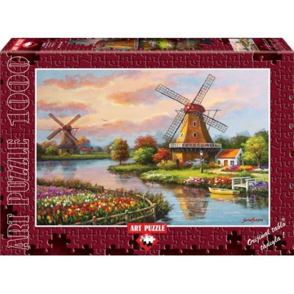 Puzzle 1000 piese - Windmills - SUNG KIM de la Heidi este un puzzle excelent pentru cei pasionatiPuzzle-ul de la Heidi te va purta intr-o calatorie de neimaginat Puzzle-ul cu 1000 de piese de imbinat alcatuieste o plansa dreptunghiulara o superba imagine care poate fi inramataCompletarea puzzle-ului 1000 piese - Windmills - SUNG KIM de la Heidi dezvaluie o ilustratie superba viu colorata facand acest puzzle un obiect oranamental de o calitate superioara1000