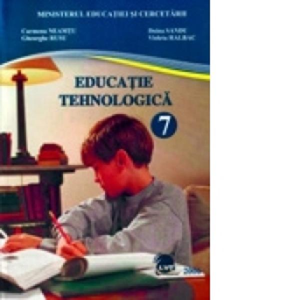 Manualul Educatie tehnologica pentru clasa a VII- a este structurat pe doua module module- Modulul I Materiale si tehnologii materiale metalice materiale plastice cauciuc si sticla;- Modulul II Tehnologii de comunicatii si transport