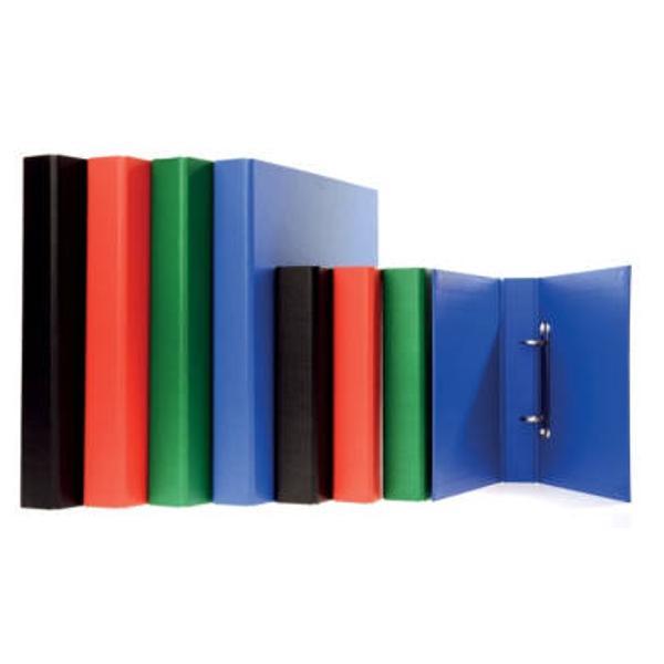 Mecanism cu 2 inele dispus pe cotor;culori disponibile albastru negru portocaliu ro&537;u verde