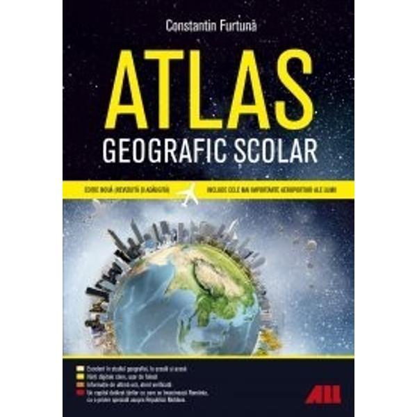 Atlasul geografic &537;colar al lumiirealizat de Constantin Furtun&259; este singurul atlas de acest tip din România actualizat cu informa&539;ii esen&539;iale disponibil acum într-o edi&539;ie nou&259; revizuit&259; &537;i ad&259;ugit&259;Atlasul cuprinde- H&259;r&539;i digitale clare &537;i u&537;or de folosit- Un tronson special dedicat României- Aten&539;ie