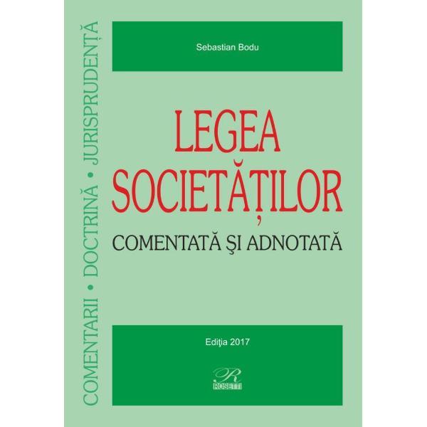Legea societatilor  Comentata si adnotata