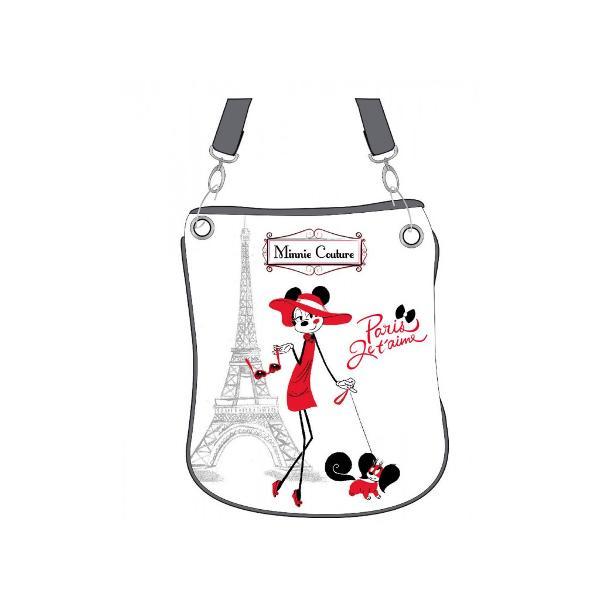 Geanta umar Disney Minnie Couture cu 1 compartiment imprimeu cu personajul Minnie Couture confectionata din piele ecologica dimensiune 26x29 cm