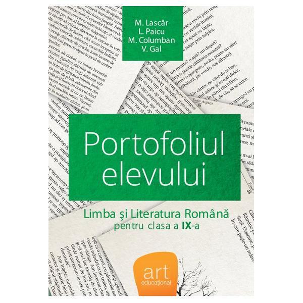 Portofoliul elevului clasa a IX a Limba si literatura romana