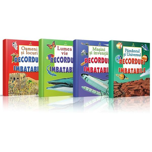 Cele patru enciclopedii din colec&539;ia &147;Recorduri imbatabile&148; la un pre&539; extraordinar