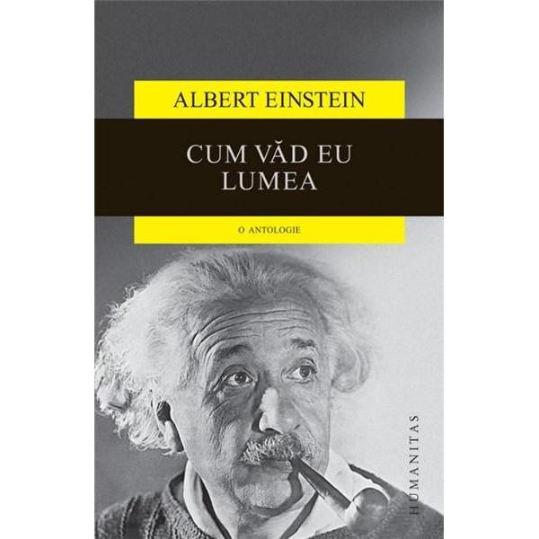 Devenita simbol al stiintei mai mult simbol al unei intelepciuni care depaseste frontierele stiintei ajungand la intrebarile esentiale despre ordinea universului si rostul nostru pe pamant figura lui Einstein continua sa exercite o fascinatie fara egal atat asupra oamenilor de stiinta cat si asupra profanilor cuceriti de clarviziunea nonconformismul si umorul sau Cum vad eu lumea reuneste articole si conferinte ale lui Einstein definitorii pentru calea urmata in cercetarile sale