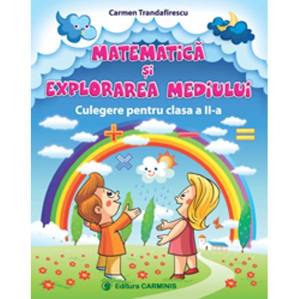 Aceast&259; carte este realizat&259; în conformitate cu noile manuale din 2018 Culegerea Matematic&259; &351;i explorarea mediului pentru clasa a II-a este elaborat&259; conform programei &351;colare în vigoare aprobat&259; de MEN prin ordinul 341819032013Lucrarea respect&259; succesiunea temelor de matematic&259; &351;i explorarea mediului din manual &351;i este util&259; atât elevilor cât &351;i cadrelor didactice &351;i