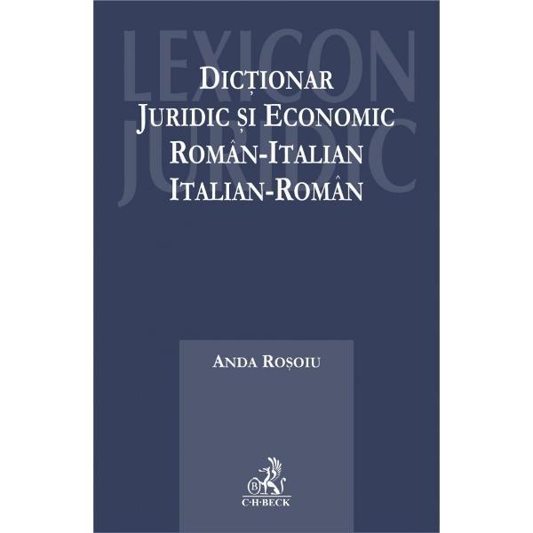 Dic&539;ionarul de termeni juridici &537;i economici român-italian &537;i italian-româna luat na&537;tere pentru a crea un instrument lingvistic modern precis &537;i sigur capabil s&259; rezolve problemele de traducere &537;i interpretare a documentelor folosite de juri&537;ti contabili notari &537;i al&539;i participan&539;i din cadrul juridic &537;i economicDic&539;ionarul se constituie