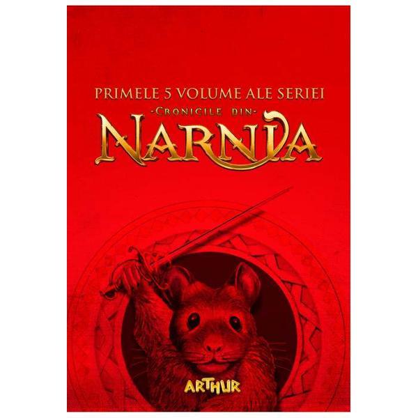 Pachetul con&539;ine urm&259;toarele titluri- Cronicile din Narnia Nepotul magicianului 1-Cronicile din Narnia Leul Vr&259;jitoarea &537;i dulapul 2-Cronicile din Narnia Calul &537;i b&259;iatul 3-Cronicile din Narnia Prin&539;ul Caspian 4-Cronicile din Narnia C&259;l&259;torie cu Zori de zi 5