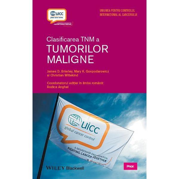 """Edi&539;ia a opta a manualului Clasificarea TNM a Tumorilor Maligne pune la dispozi&539;ie ultimele consensuri &537;i standarde interna&539;ionale utilizate pentru a descrie &537;i a caracteriza corespunz&259;tor stadiile maladiilor oncologice Editat în afiliere cu Uniunea pentru Controlul Interna&539;ional al Cancerului UICC acest """"ghid de buzunar"""" autorizat &537;i unanim recunoscut con&539;ine importante clasific&259;ri reactualizate pentru localiz&259;ri"""