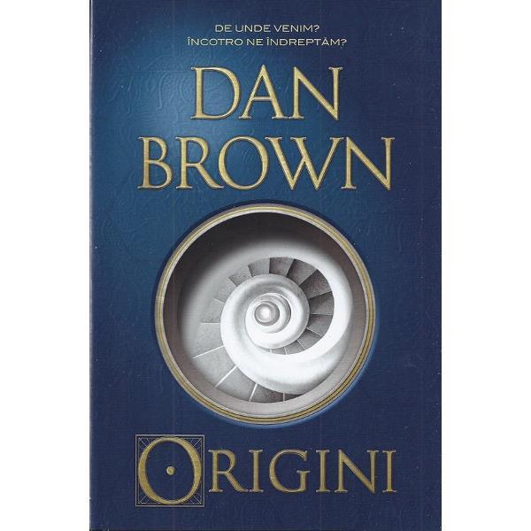 """Origini este cea mai bun&259; carte scris&259; de Dan Brown pân&259; acumDe aceast&259; dat&259; profesorul Robert Langdon este invitat la Muzeul Guggenheim din Bilbao pentru a lua parte la ceremonia de dezv&259;luire a unei inven&539;ii care """"va schimba fa&539;a &537;tiin&539;ei pentru totdeauna""""Gazda este fostul student al profesorului milionarul"""