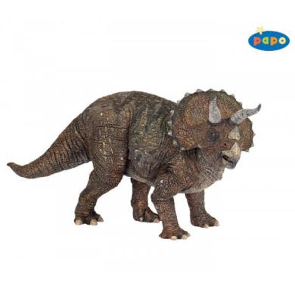 Figurina Papo - TriceratopsJucarie educationala realizata manual excelent pictata si poate fi colectionata de catre copii sau adaugata la seturile de joaca cum ar fi animale preistoriceietcUn excelent stimulent pentru a extinde imaginatia copiilor dezvoltand multe oportunitati de joacaNu contine substante toxiceDimensiuni Lx l x h 23 x 9 x 10cmVarsta 3 ani Asemeni tuturor figurinelor Papo Triceratops face parte din colectia de figurine preistorice este pictat manual vopselurile