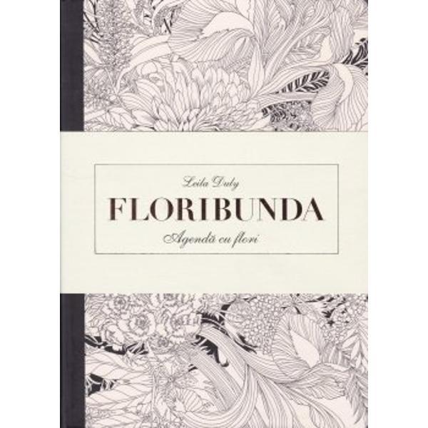 Floribunda Agenda de colorat cu flori